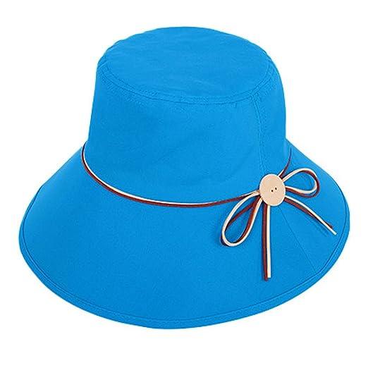 Flyou Summer Sun Hats Foldable Beach Cap for Women Wide Brim Beach Hat  Fishing Caps ( 122beea6228