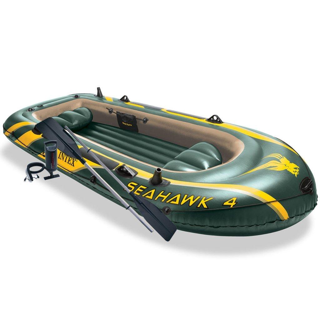 Intex Seahawk 4 Set Aufblasbares Boot mit Ruder und Pumpe 68367NP