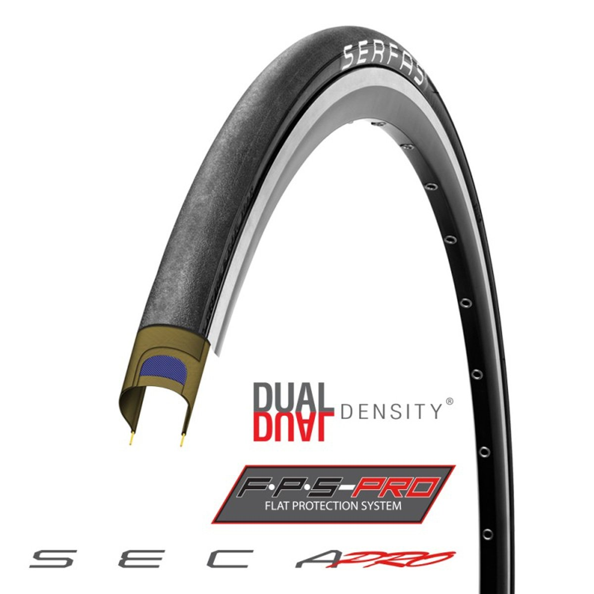 Serfas Seca Pro with Fps Folding Road Pro Tire