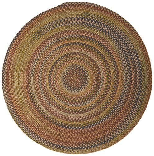(Colonial Mills Rustica Round Braided Rug, 4', Grecian Green)