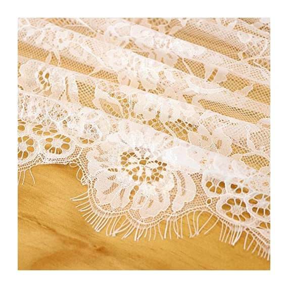 OurWarm 28 x 120 Inches Vintage Lace Wedding Table Runner, White Floral Lace Table Runners for Rustic Chic Wedding Reception Table Decor, Boho Wedding Bridal Shower Party Decorations - ◆Perfect Size: 28 x 120 inches rustic lace table runner, Great for decorating your boho wedding reception table ◆Soft Material: made of premium lace, and soft touch lace with fringe and eye-catching openwork to add a simple classy touch to your home decoration ◆Elegant Design: Use floral patterns design, simple practical style, matching with bohemian, chic or other modern themes to add a romantic touch or stay with the classic elegant design - table-runners, kitchen-dining-room-table-linens, kitchen-dining-room - 61bOS4oSEVL. SS570  -