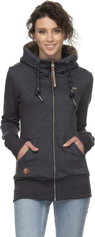 Ragwear NESKA Felpa con cappuccio e zip, colore: nero Nero
