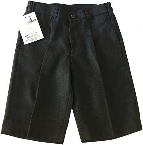 Pantalón Corto de Uniforme Escolar Gris. Fabricado en España. Material con Tratamiento Pymagard (repele el Agua y la Grasa). (6 años): Amazon.es: Ropa y accesorios