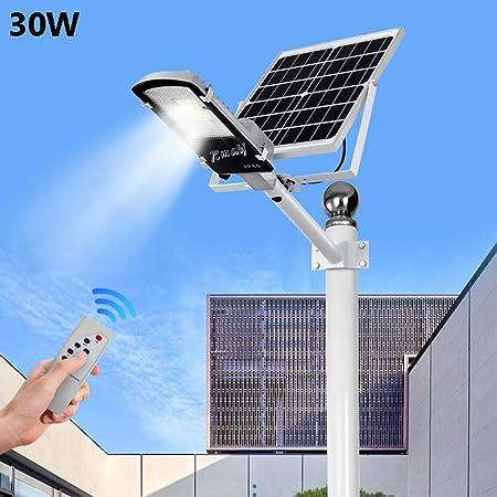 LAMPIONE STRADALE LED 30W CON TELECOMANDO E PANNELLO SOLARE IP65