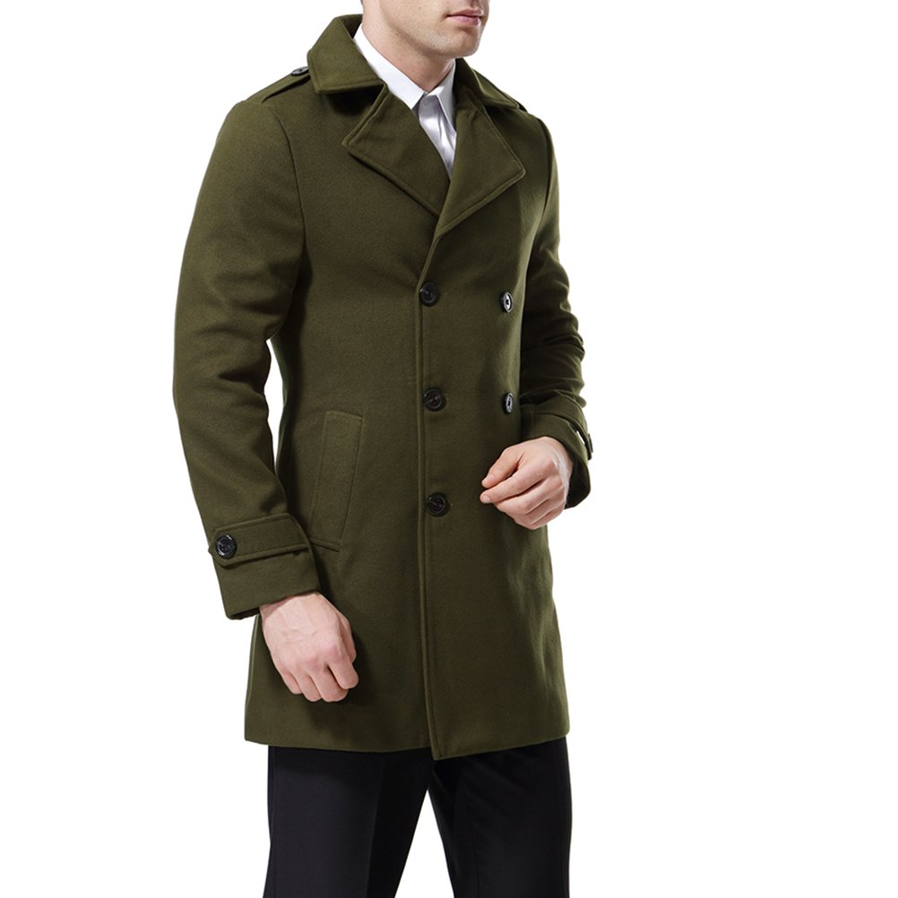 Confident European Style Mens Jacket Double Breasted Coat Lengthened Simple Luxury Wool Coat Male Coat For Men Y Men's Clothing