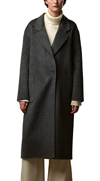 022c877c81 Cashmere Wool Blend Midi Long Tailored Single-breasted Coat for ...
