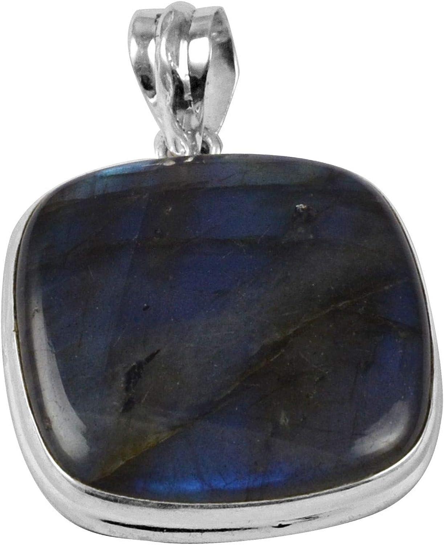 69Ct 48x25mm Labradorite Gemstone Natural Labradorite Jewelry Making Stone Blue Fire Labradorite Cabochon Pendant Fancy Labradorite S341
