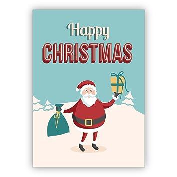 Weihnachtsgrüße Schreiben Privat.1 Weihnachtsgruß Privat Geschäftlich Bunte Retro Weihnachtskarte