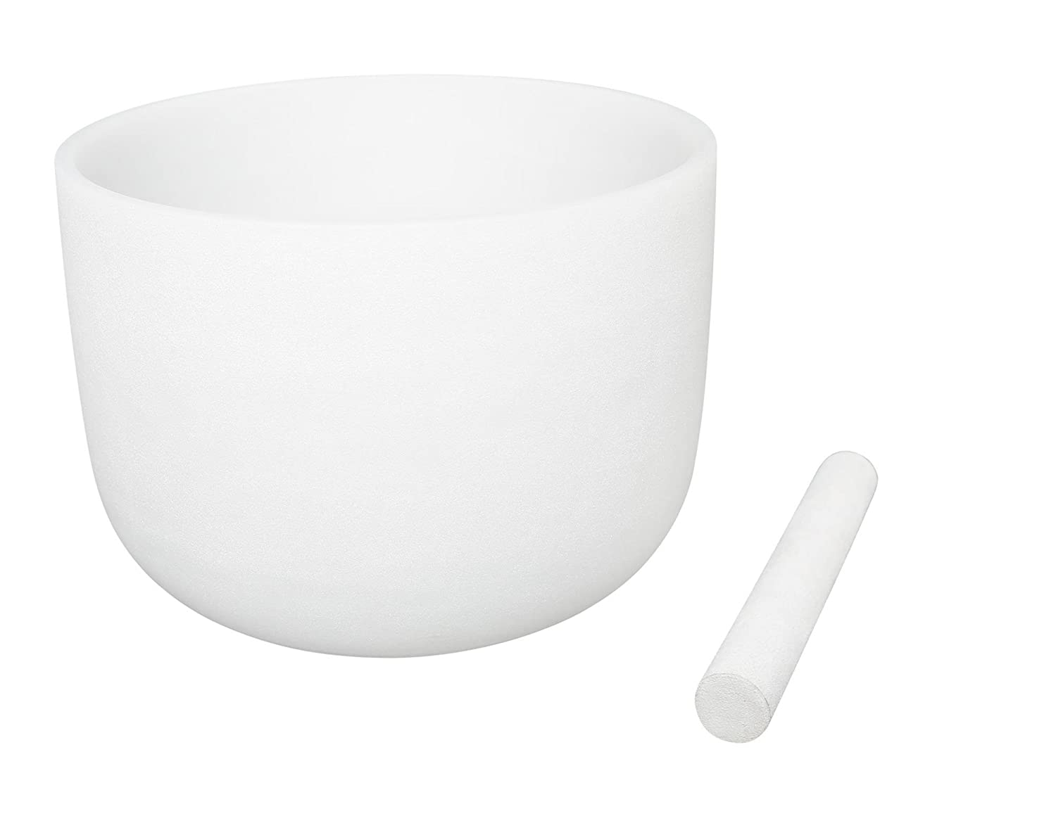 White Frosted Singing Bowls F Note Crystal Singing Bowl Heart Chakra 8 Inch Best Quality Suede Mallet Included UBTer