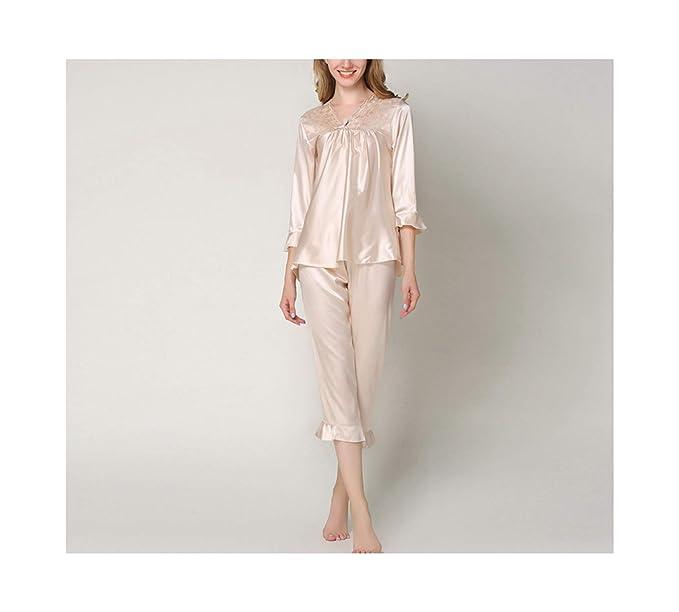 Amazon.com: Silk Satin Pajamas - Conjunto de pijama para ...