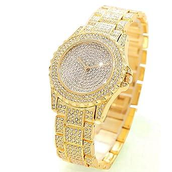 ARMRA Luxury Women Watch Bling Bling Fashion Jewelry Crystal Diamond  Rhinestone Ladies Watches Steel Band Round 17e045d0dfd7