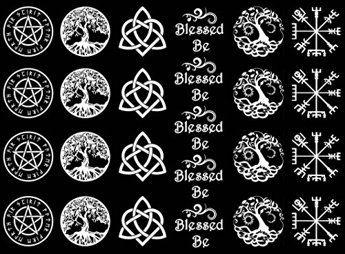 Blessed Be White 17CC779 Fused Glass Decals (must be kiln fired) (Decals Kiln Fired)