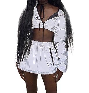 414b5e4d00966f ... Buckles Festival Bralette Bra Bustier Crop Tops Camisole ·  6.66 · Women  2Pcs Sport Reflective Tracksuit Long Sleeve Zip up Sweatshirt Jacket Crop  Tops ...