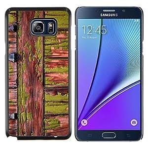 Stuss Case / Funda Carcasa protectora - Green Wood Nature lignes naturelles - Samsung Galaxy Note 5