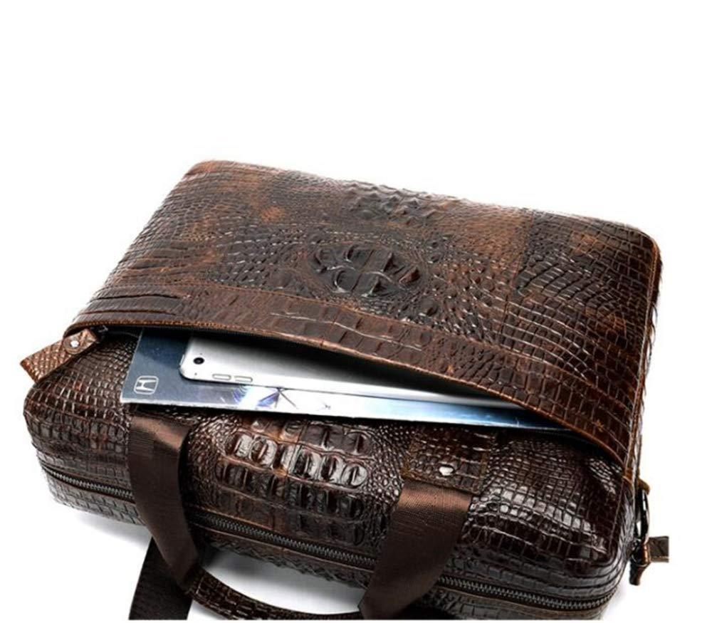 Sxuefang Mens Shoulder Bag Mens Messenger Bag Computer Briefcase Business Casual Mens Bag Fashion Portable Shoulder Bag 38x9x29cm