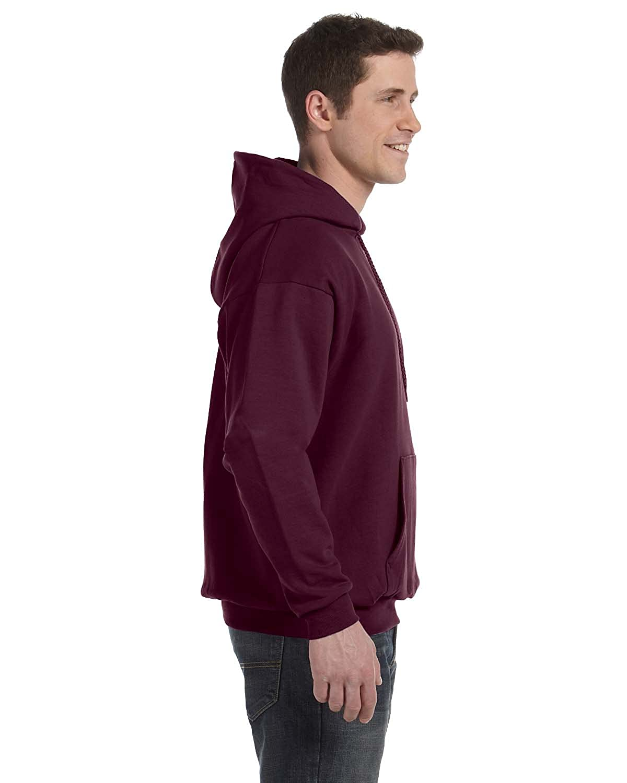 Hanes Mens EcoSmart Hooded Sweatshirt Small 1 Light Blue 1 Maroon