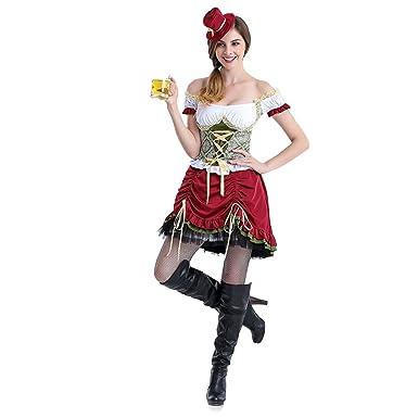 Women Deluxe Bavarian German Bar Maid Oktoberfest Fancy Dress Waitress Costume  sc 1 st  Amazon.com & Amazon.com: Women Deluxe Bavarian German Bar Maid Oktoberfest Fancy ...