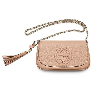 37ca71c7ff1 Amazon.com  Gucci Soho Camelia Rose Beige Light Tan Leather shoulder bag  New  Shoes