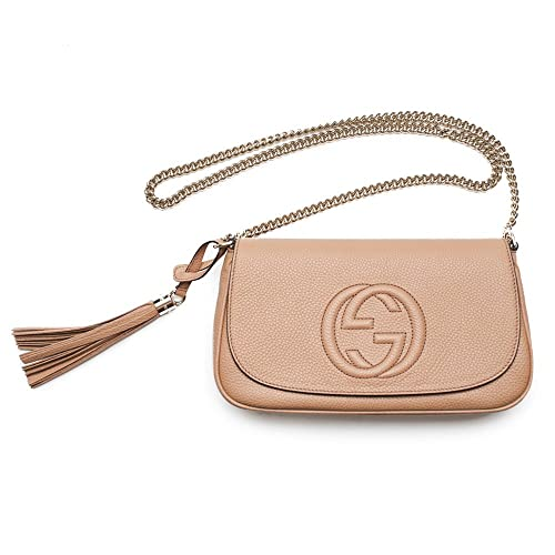 b0cd4ae4ff3 Gucci Soho Camelia Rose Beige Light Tan Leather shoulder bag New   Amazon.ca  Shoes   Handbags
