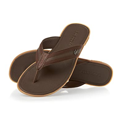 0e188f59f6bb8f Lacoste Carros 6 Sandals Brown 6 UK  Amazon.co.uk  Shoes   Bags