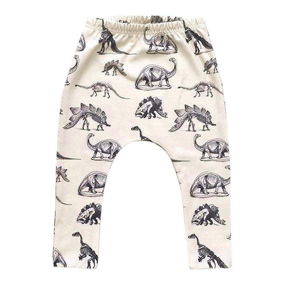 Toddler Kid Boy Pants, Buedvo Dinosaurs Print Elastic Long Cool Harem Trousers