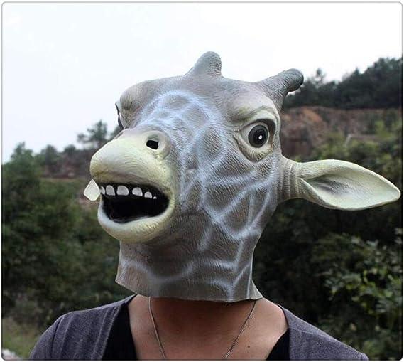 Z-one 1 máscara de cabeza de ciervo de látex para disfraz de ...