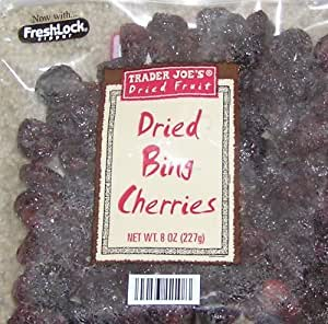 Trader Joe's Dried Fruit - Dried Bing Cherries 8 ounces (Pack of 4)