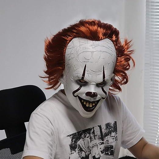 ZHAOLV Máscara de Joker Stephen King It Capítulo Horror Cosplay ...