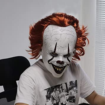 LIZHIOO Máscara de Joker Stephen King It Capítulo Horror Cosplay ...