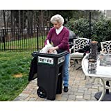 32 Gal. Green Trash Sealed Stop Bar Journals Can