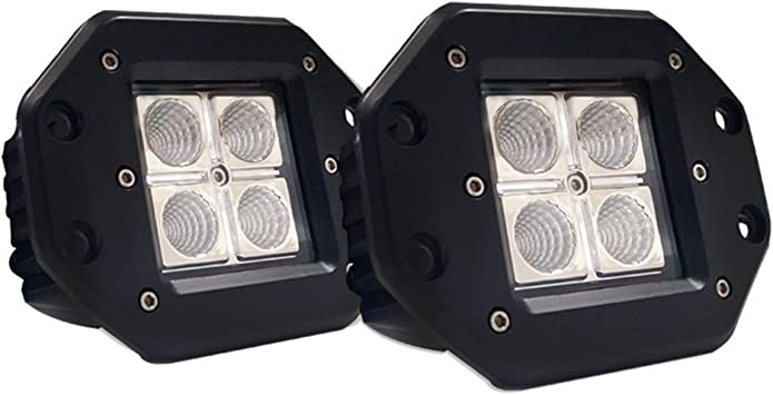 LED 2007 Volvo VT800 DAYCAB Post mount spotlight -Black Driver side WITH install kit 6 inch