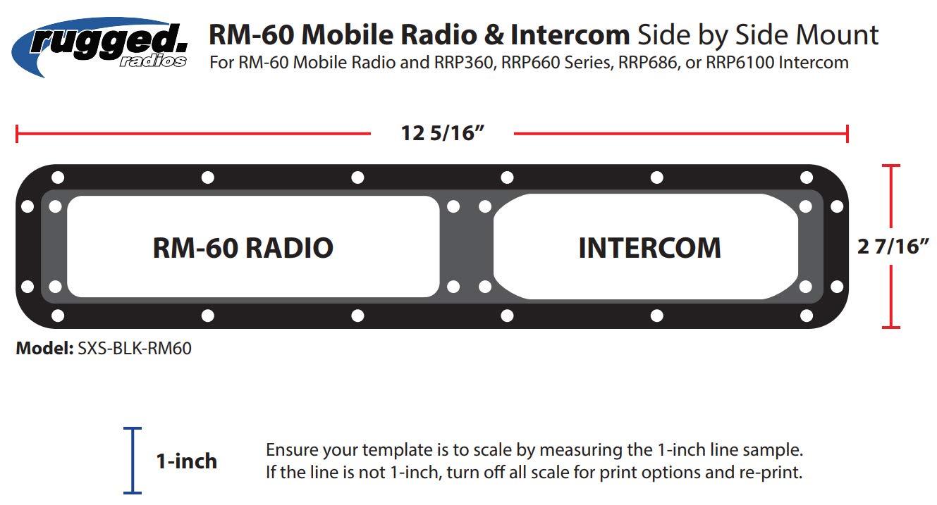 Rugged Radios MT-DM-AL-SXS-RM60 Universal Side-by-Side Mount for Rugged Radios Mobile Radios & Intercoms by Rugged Radios (Image #2)