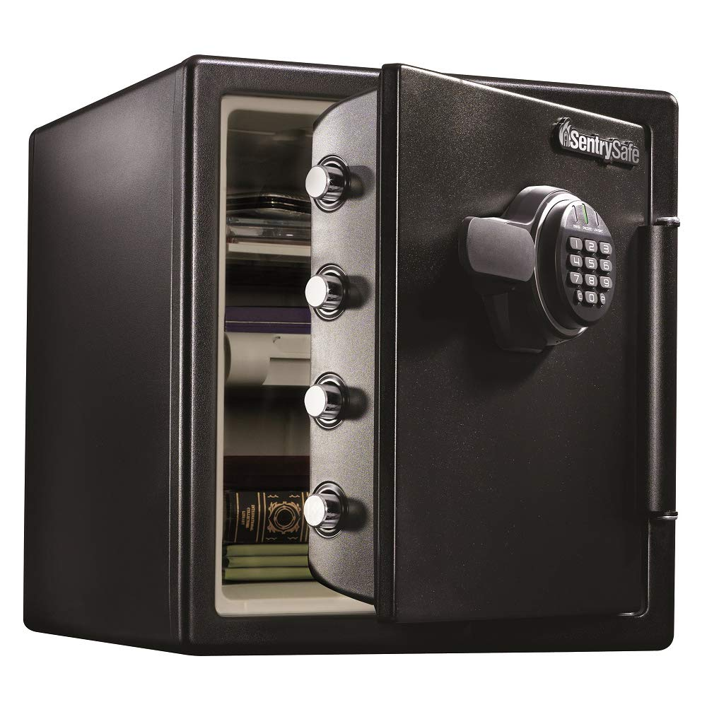 SentrySafe SFW123EU Fireproof Waterproof Safe with Digital Keypad, 1.23 Cubic Feet by SentrySafe
