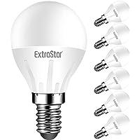 EXTRASTAR Bombilla LED E14, 400 Lúmen, 5W Equivalente a 40W, Luz Cálida 3000K, Bombillas Casquillo Fino, No regulable…
