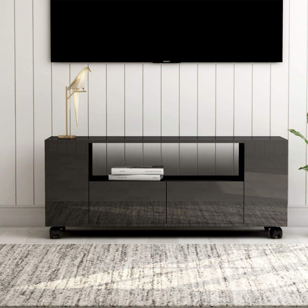 vidaXL Mobile Porta TV Arredi Casa HiFi Elegante Moderno Robusto Armadietto Credenza Multimediale Bianco Lucido 120x34x30 cm in Truciolato