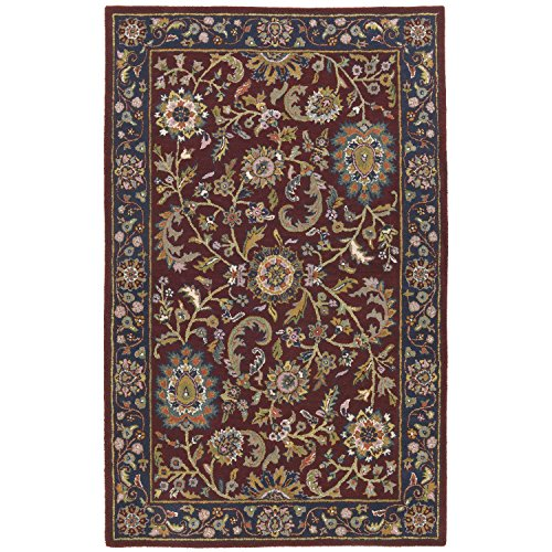 Traditions Kashan Rug, 5-Feet by 8-Feet, (Gold Medallion Kashan Rug)