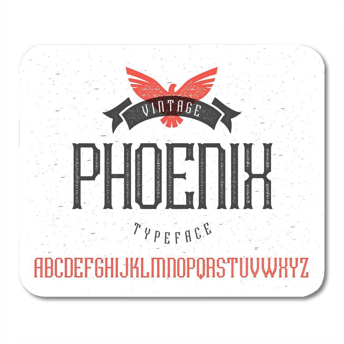 Alfombrillas de ratón Alfabeto Occidental Alfabeto Vintage Phoenix ...