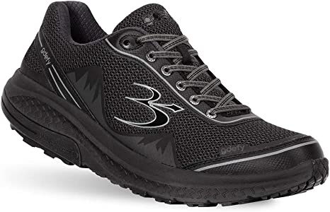 Gravity Defyer Alivio del Dolor Probado para Hombres G-Defy Poderoso Caminar - Zapatos para Dolor De Talón, Dolor De Pie, Fascitis Plantar de los Hombres|Negro|14 X Ancho: Amazon.es: Deportes y aire libre