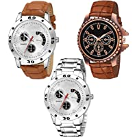 TULIPS FASHION Pack of 3 Multicoloured Analog Watch for Men and Boys