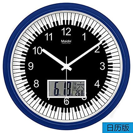 DIDADI Wall Clock Moderno y minimalista reloj de pared digital electrónica características del calendario relojes Ding
