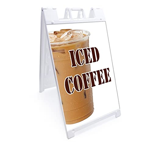 """A-frame Sidewalk Bubble Tea Sign With Graphics On Each Side24/"""" X 36/"""""""