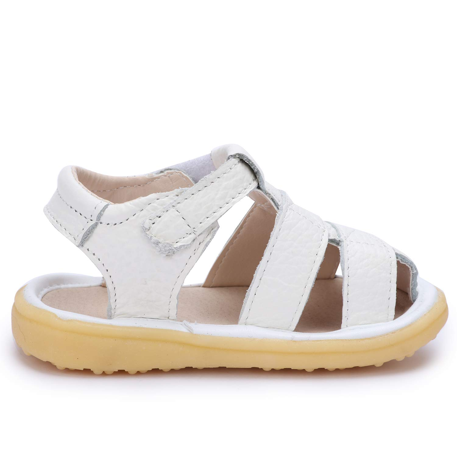 UBELLA Toddler Boys Girls Summer Outdoor Closed-Toe Leather Sandals Casual Flat Soft Sole Prewalker Shoes