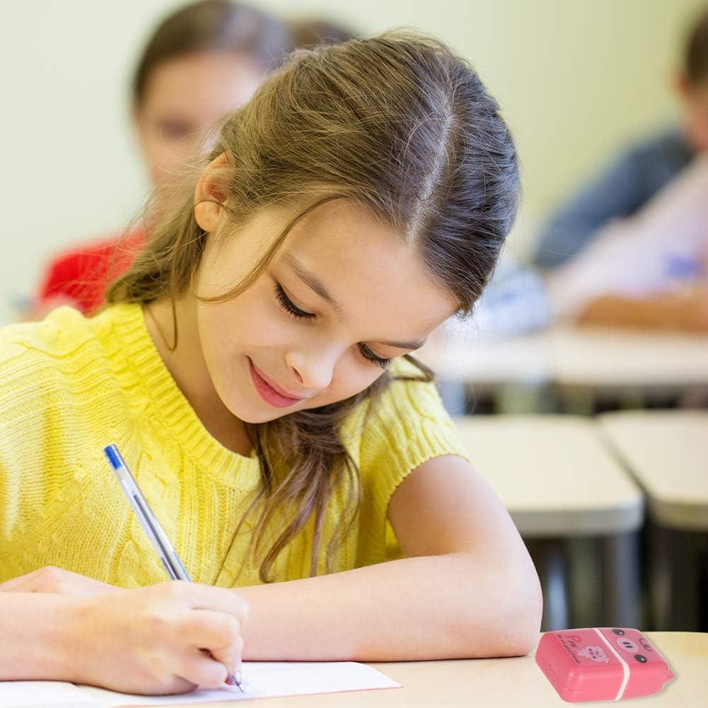 6 Pattern Spiralization Direct 12 Pieces Cute Roller Eraser Pencil Creative Cartoon Rectangle Eraser for School Stationery Kids Gifts