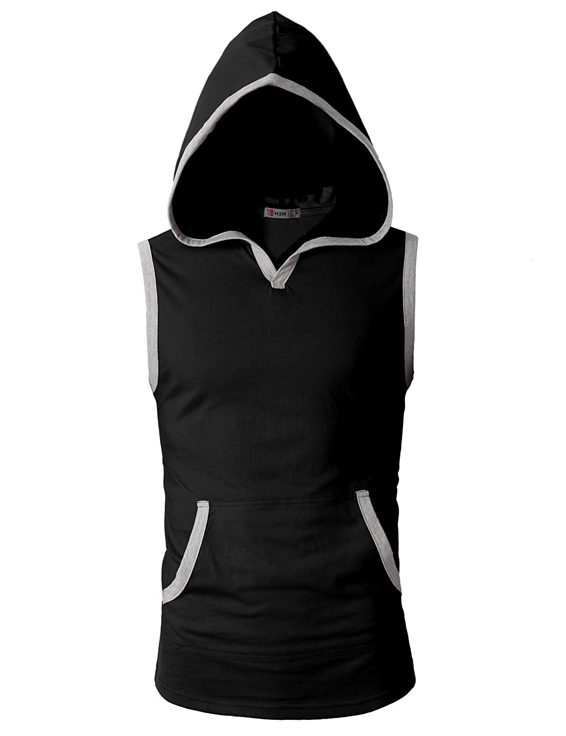 7342f032 Amazon.com: H2H Men's Casual Hoodie Tank Tops Sleeveless Shirts Gym Workout  with Pockets: Clothing
