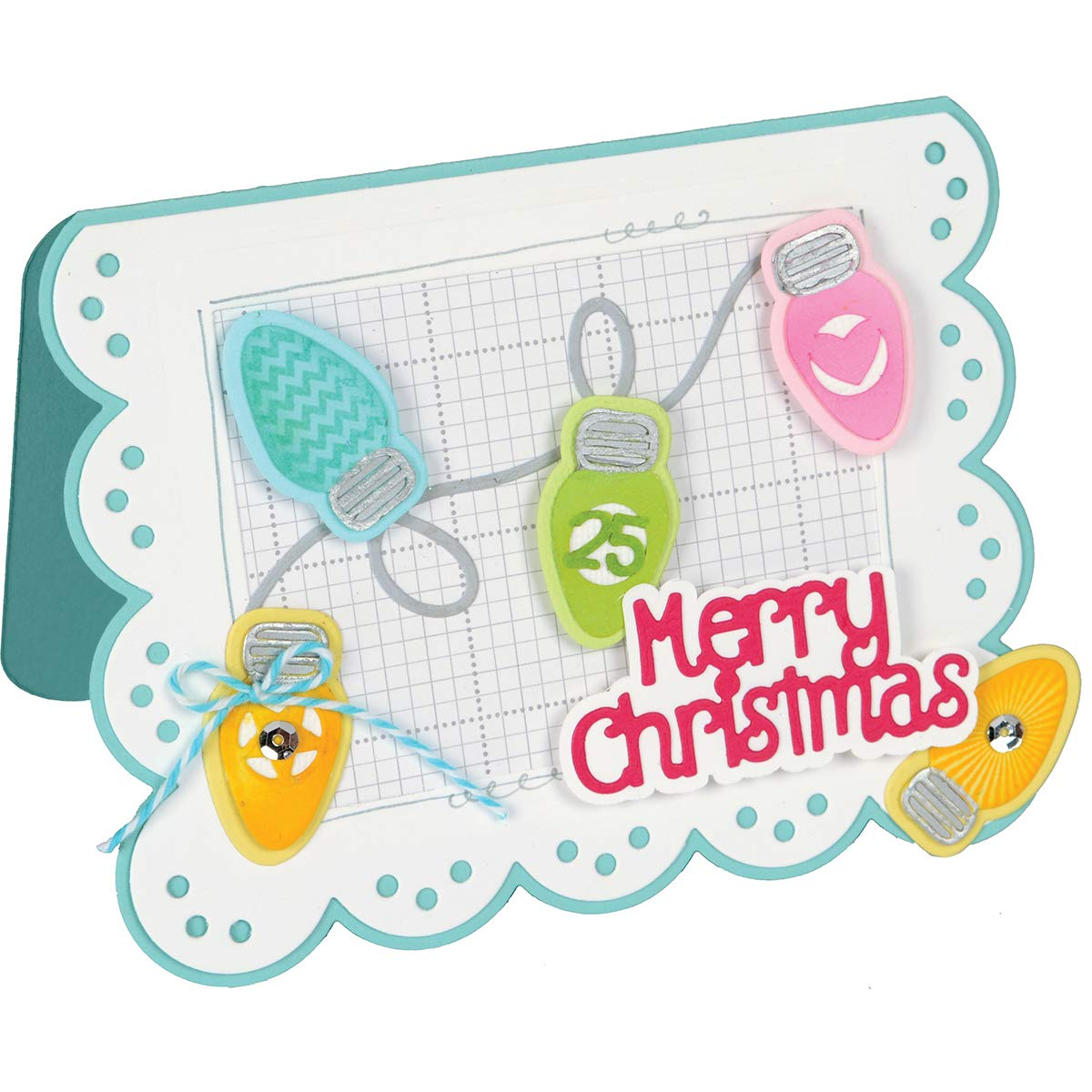 Sizzix Framelits Die with Clear Acrylic Stamp Set Mini Lights (12 Pack)