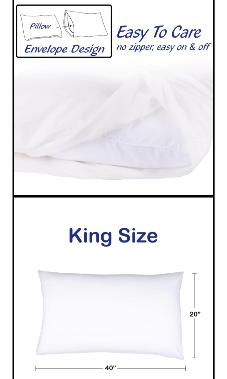 Bulk Pack of 24 King Size Pillowcases, White 300 Thread Count, 20''x40'' Solid White 2 Dozen, Perfect for Physical Therapy Clinics, Hotels, Camps by Arihant Bedding (Image #3)