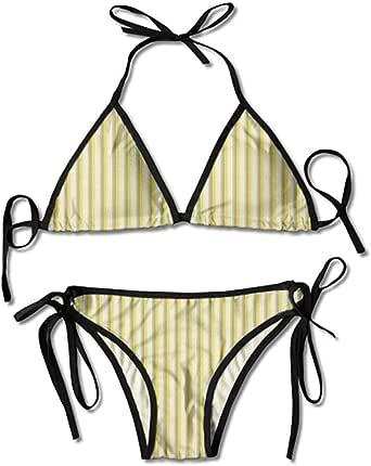 Amazon.com: Triangle Bikini Swimsuits,Stripes in Retro