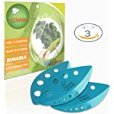 Leaf shaped kitchen accessories • Fresh Herbs Stripping Tool • Chard, Collard Greens, Kale Stripper • Remove Leaves from Stem • Cooking Gadgets ( SETS OF 3) (TEAL)