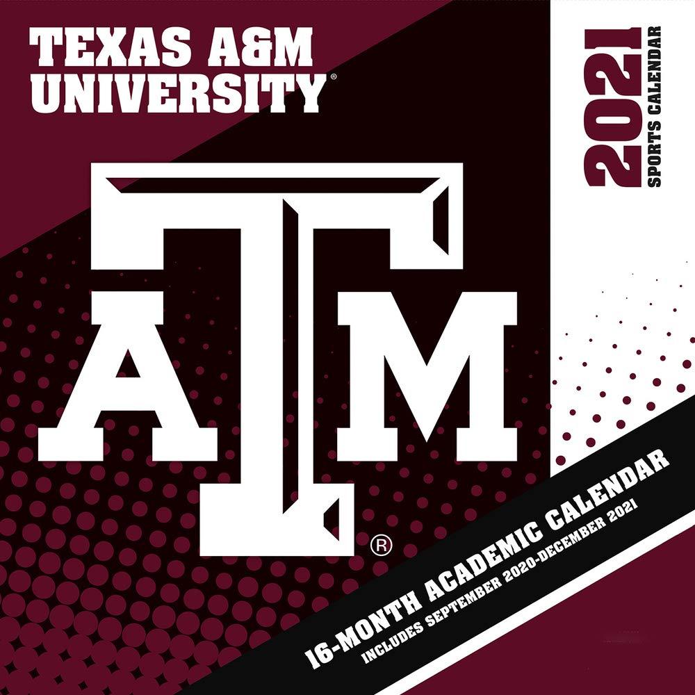 Texas A&m Aggies 2021 12x12 Team Wall Calendar: 9781469378084