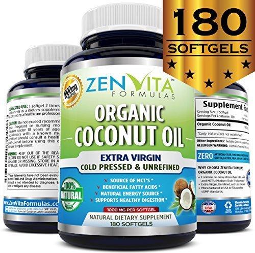 Organic Coconut Oil Softgels Unrefined